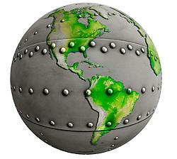 Metal riveted  Globe