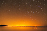 Stars, Night during blackout, Southold Bay, Southold, New York
