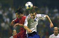 Fotball. 3. september 2005, Bosnia-Herzegovina - Belgia<br /> <br /> DANIEL VAN BUYTEN - SASA PAPAC<br /> Foto: Eric Lalmand, Digitalsport<br /> Norway only