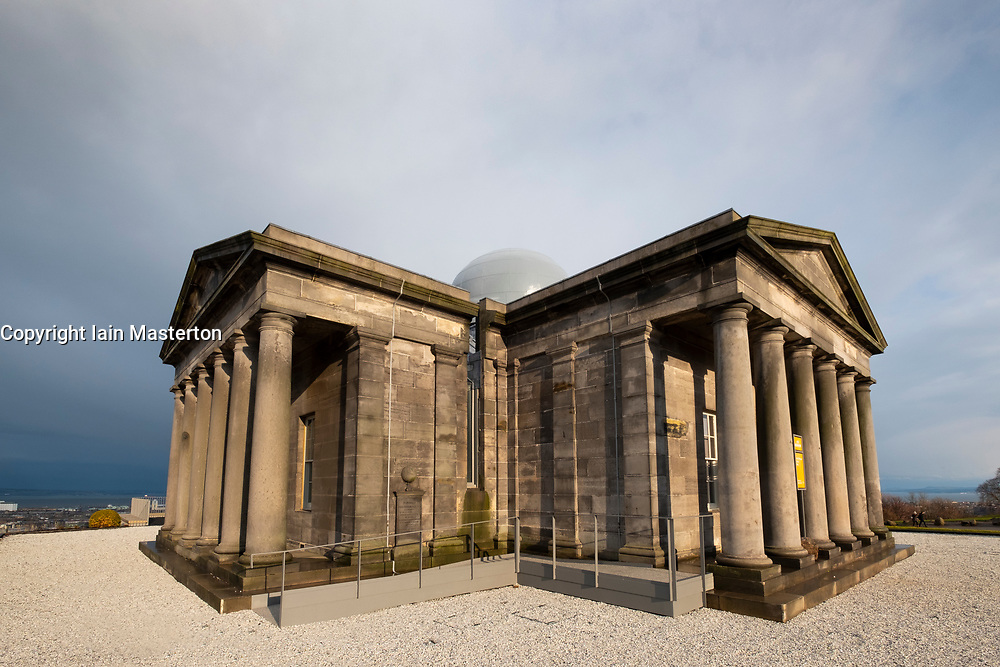 Edinburgh, Scotland, UK. 21 November, 2018. The historic City Observatory on Calton Hill will reopen as The Collective, an arts organisation and will feature the restored City Observatory, City Dome, and a purpose-built exhibition space as well as The Lookout , a new restaurant run by The Gardener's Cottage owners. It opens to the public on 24 November, 2018. ++ Editorial Use Only ++