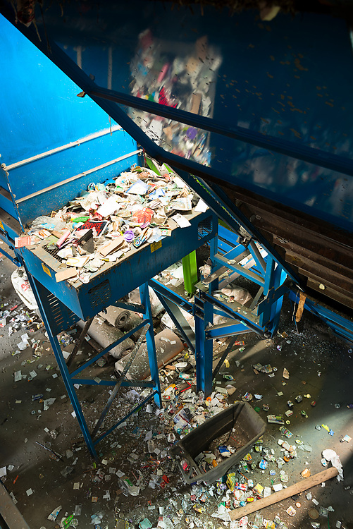 Overflow waste in the MRF.