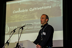 Pictured: Detective Constable Kevin Plank<br /> <br /> Falkirk Town Hall hosted an event today aimed at raising awareness of cannabis cultivations across Forth Valley. The Weed Them Out campaign was launched by senior police officers including Detective Chief Inspector Laura Mcluckie. <br /> <br /> Ger Harley | EEm 31 May  2016