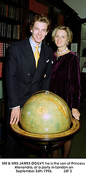 MR & MRS JAMES OGILVY, he is the son of Princess Alexandra, at a party in London on September 24th 1996.LSF 3