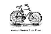 American Rambler spring Frame From Wheels and Wheeling; An indispensable handbook for cyclists, with over two hundred illustrations by Porter, Luther Henry. Published in Boston in 1892