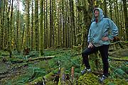 Trail Runner - Hoh Rainforest - Olympic National Park - Washington State