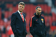 Louis Van Gaal, manager of Manchester United and assistant Ryan Giggs - Manchester United vs. Hull City - Barclay's Premier League - Old Trafford - Manchester - 29/11/2014 Pic Philip Oldham/Sportimage