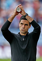 Football - 2021 / 2022 Premier League - Burnley vs. Arsenal<br /> <br /> Arsenal head coach Mikel Arteta applauds his team's travelling support before the game, at Turf Moor.<br /> <br /> <br /> COLORSPORT/ALAN MARTIN