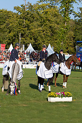 KWPN winning the studbook championship<br /> King Kitty (GBR) - Zidante (7 year)<br /> Touzaint Nicolas (FRA) - Zonlicht (7 year)<br /> Canter Rosalind (GBR) - Aprobanta (6 year)<br /> World Championship Young Eventing Horses<br /> Le Lion d'Angers 2011<br /> © Dirk Caremans