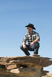 hot rugged cowboy outdoors