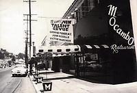 1951 Mocambo nightclub on Sunset Blvd.