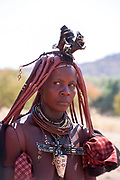 Portrait of a Himba tribeswoman. Namibia