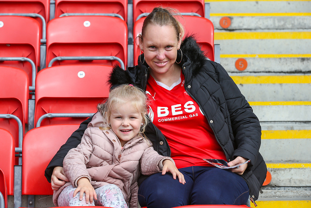 Fleetwood Town fans take their seats before the match<br /> <br /> Photographer Alex Dodd/CameraSport<br /> <br /> The EFL Sky Bet League One - Fleetwood Town v Accrington Stanley - Saturday 15th September 2018  - Highbury Stadium - Fleetwood<br /> <br /> World Copyright © 2018 CameraSport. All rights reserved. 43 Linden Ave. Countesthorpe. Leicester. England. LE8 5PG - Tel: +44 (0) 116 277 4147 - admin@camerasport.com - www.camerasport.com