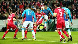 Jack Wilshere of Arsenal heads the ball towards goal - Mandatory by-line: Robbie Stephenson/JMP - 23/11/2017 - FOOTBALL - RheinEnergieSTADION - Cologne,  - Cologne v Arsenal - UEFA Europa League Group H