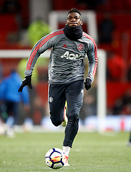 Manchester United's Paul Pogba warms up before the Emirates FA Cup, quarter final match at Old Trafford, Manchester