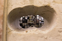 EDITORIAL USE ONLY<br /> File photo dated 24/10/16 of the holes drilled to gain access to the Hatton Garden Safe Deposit, in Hatton Garden, London. The Hatton Garden burglars would have sold almost &pound;10 million worth of loot taken during the raid for a fraction of its market value, a court heard.