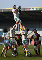 Rugby Union - 2020 / 2021 Gallagher Premiership - Round 12 - Harlequins vs Northampton Saints - The Stoop<br /> <br /> Northampton Saints' Api Ratuniyarawa claims the lineout.<br /> <br /> COLORSPORT/ASHLEY WESTERN