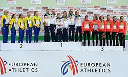08-12-2013 ATHLETICS: SPAR EC CROSS COUNTRY: BELGRADE<br /> Junior women 4 km / Zilver voor Zweden, Goud voor team Engeland en brons voor Duitsland<br /> ©2013-WWW.FOTOHOOGENDOORN.NL
