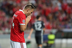September 12, 2017 - Lisbon, Portugal - Benfica's Suisse forward Haris Seferovic reacts during UEFA Champions League football match SL Benfica vs CSKA Moscow at the Luz stadium in Lisbon, Portugal on September 12, 2017. Photo: Pedro Fiuza (Credit Image: © Pedro Fiuza via ZUMA Wire)