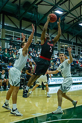 BLOOMINGTON, IL - November 12: Chanz Aldridge during a college basketball game between the IWU Titans  and the Blackburn Beavers on November 12 2019 at Shirk Center in Bloomington, IL. (Photo by Alan Look)