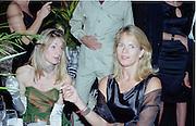 Lucy and Arabella Lindsay. Goodwood Revival Meeting  Ball 16 September 2000. 2000© Copyright Photograph by Dafydd Jones 66 Stockwell Park Rd. London SW9 0DA Tel 020 7733 0108 www.dafjones.com