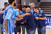 """Staff Tecnico Banco di Sardegna Dinamo Sassari<br /> Banco di Sardegna Dinamo Sassari - Hertz Cagliari Dinamo Academy<br /> Torneo """"Città di Sassari - Mimì Anselmi"""" <br /> Sassari, 28/09/2018<br /> Foto L.Canu / Ciamillo-Castoria"""