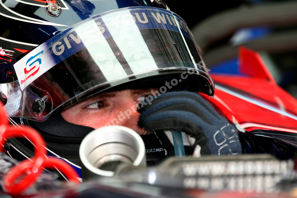 Scott Speed (Toro Rosso-Ferrari) with his helmet on during practice for the 2007 Bahrain Grand Prix. Photo: Grand Prix Photo