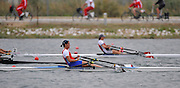 Marathon, GREECE, SRB W1X, Iva OBRADOVIC, Semi final A/B, at the start of the morning heat at the FISA European Rowing Championships.  Lake Schinias Rowing Course, SAT. 20.09.2008  [Mandatory Credit Peter Spurrier/ Intersport Images] , Rowing Course; Lake Schinias Olympic Rowing Course. GREECE