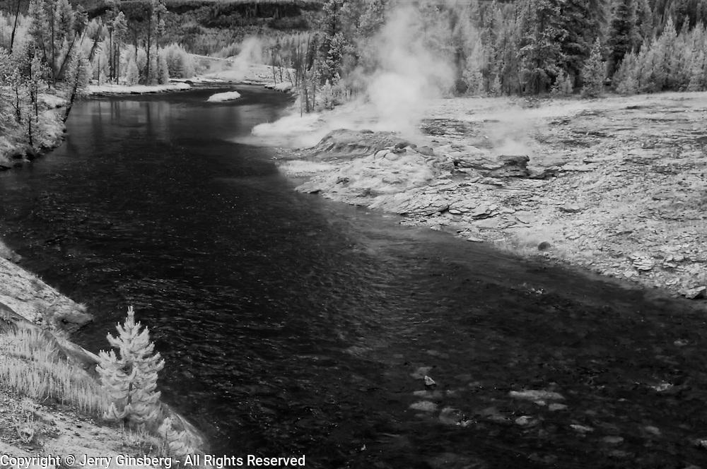Firehole River, Old Faithful Geyser Basin, Yellowstone National Park, Wyoming.