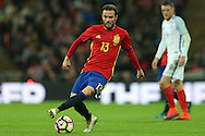 Juan Mata of Spain in action. England v Spain, Football international friendly at Wembley Stadium in London on Tuesday 15th November 2016.<br /> pic by John Patrick Fletcher, Andrew Orchard sports photography.