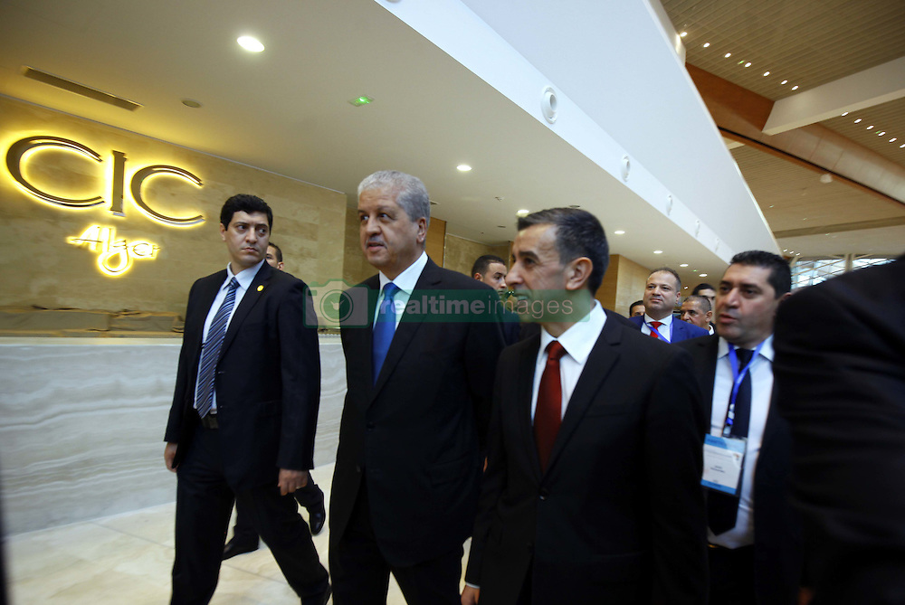 December 3, 2016 - Algiers, Argentina - Abed el Malek Sellal and Ali Haddad head of the Forum of Entrepreneurs (FCE) attending the opening ceremony of the the African Investment and Business Forum in Algiers, Algeria, on 3 December 2016. More than 2,000 delegates from across Africa attended the African Investment and Business Forum, aimed at boosting the continent's economic potential. (Credit Image: © Billal Bensalem/NurPhoto via ZUMA Press)