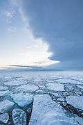 "North of Spitsbergen in the Arctic Ocean, where the ice start to freze together. 82°32'46"" N 16°53'34"" E | Nord om svalbard hvor isen snart har frosset til."