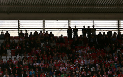 Southampton fans in the stand during the game