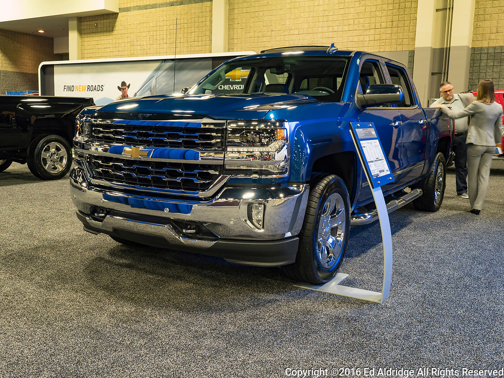 CHARLOTTE, NC, USA - NOVEMBER 17, 2016: Chevrolet Silverado on display during the 2016 Charlotte International Auto Show at the Charlotte Convention Center in downtown Charlotte.