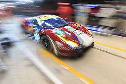 June 18, 2017 - Le Mans, Sarthe, France - AF Corse Ferrari 488 GTE rider JAMES CALADO (GBR) in the pit lane for refueling during the race of the 24 hours of Le Mans on the Le Mans Circuit - France (Credit Image: © Pierre Stevenin via ZUMA Wire)