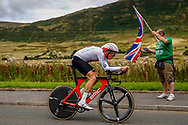 Time Trial Men 45,7 km, Stefan Kung (Switzerland) during the Road Cycling European Championships Glasgow 2018, in Glasgow City Centre and metropolitan areas Great Britain, Day 7, on August 8, 2018 - photo Luca Bettini / BettiniPhoto / ProSportsImages / DPPI<br /> - restriction - Netherlands out, Belgium out, Spain out, Italy out