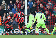 Bournemouth's Steve Cook scoring his sides third goal during the Premier League match at the Vitality Stadium, London. Picture date December 4th, 2016 Pic David Klein/Sportimage