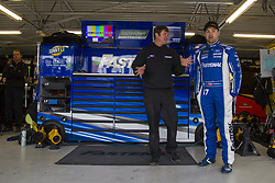 October 19, 2018 - Kansas City, Kansas, United States of America - Ricky Stenhouse, Jr (17) hangs out in the garage during practice for the Hollywood Casino 400 at Kansas Speedway in Kansas City, Kansas. (Credit Image: © Justin R. Noe Asp Inc/ASP via ZUMA Wire)