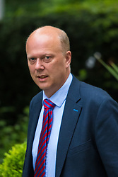 Downing Street, London, May 12th 2015. The all-conservatives Cabinet ministers gather for their first official meeting at Downing Street. PICTURED: Chris Grayling, Leader of the House of Commons, Lord President of the Council