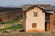 Local house<br /> Hauts plateaux<br /> Central Madagascar<br /> MADAGASCAR