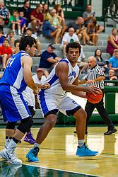 28 June 2014: Nick Stokowski & Travon Smith 2014 Boys Illinois Basketball Coaches Association All Start game at the Shirk Center in Bloomington IL