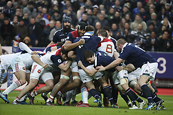 Furious maul during Rugby RBS 6 Nations Tournament, France vs Scotland in Stade de France, St-Denis, France, on February 12th, 2017. France won 22-16. Photo by Henri Szwarc/ABACAPRESS.COM