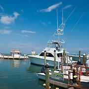 Fishing boats in Whale Harbor, Islamorada island Florida