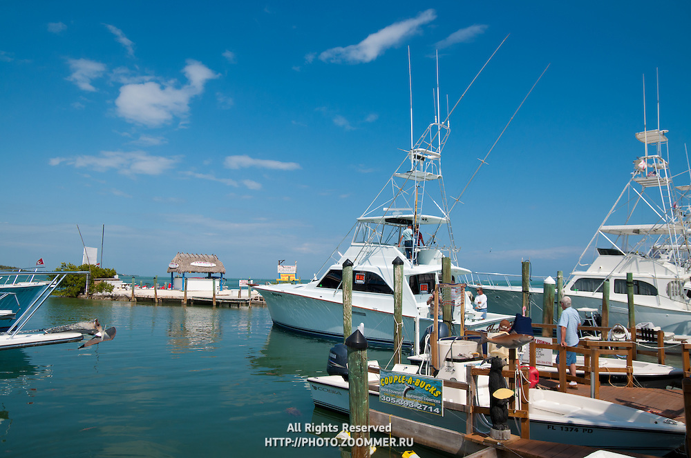 Fishing boats in Whale Harbor, Islamorada island Florida