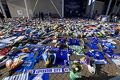 Tributes at Leicester City Football Club - 31 Oct 2018