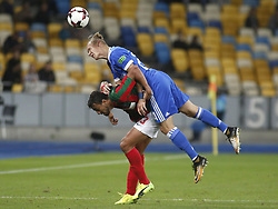 August 24, 2017 - Domagoj Vida (R) of Dynamo vies for the ball with Ricardo Valente (L) of Maritimo  during the Europa League second play-off soccer match between FC Dynamo Kyiv and FC Maritimo, at the Olimpiyskyi stadium in Kyiv, Ukraine, August 24, 2017. (Credit Image: © Anatolii Stepanov via ZUMA Wire)