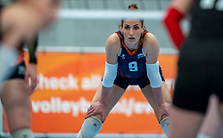 Myrthe Schoot of Netherlands in action during the Women's friendly match between Netherlands and Belgium at Sporthal De Basis on may 19, 2021 in Sliedrecht, Netherlands (Photo by RHF Agency/Ronald Hoogendoorn)