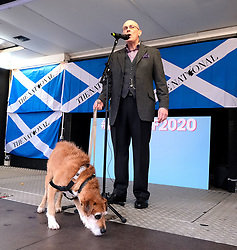 Independence Rally, Glasgow, Saturday 2nd November 2019<br /> <br /> Pictured: Paul Kavanagh and the wee ginger dug <br /> <br /> Alex Todd | Edinburgh Elite media