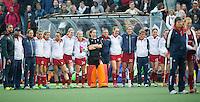 AMSTERDAM - Hockey - GB team tijdens Shoot outs. .  Interland tussen de vrouwen van Nederland en Groot-Brittannië, in de Rabo Super Serie 2016 .  COPYRIGHT KOEN SUYK