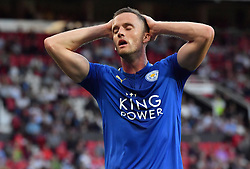 Leicester City's Andy King rues a missed chance to score