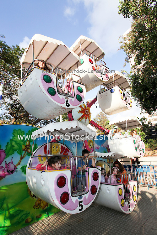 Children on a merry-go-round